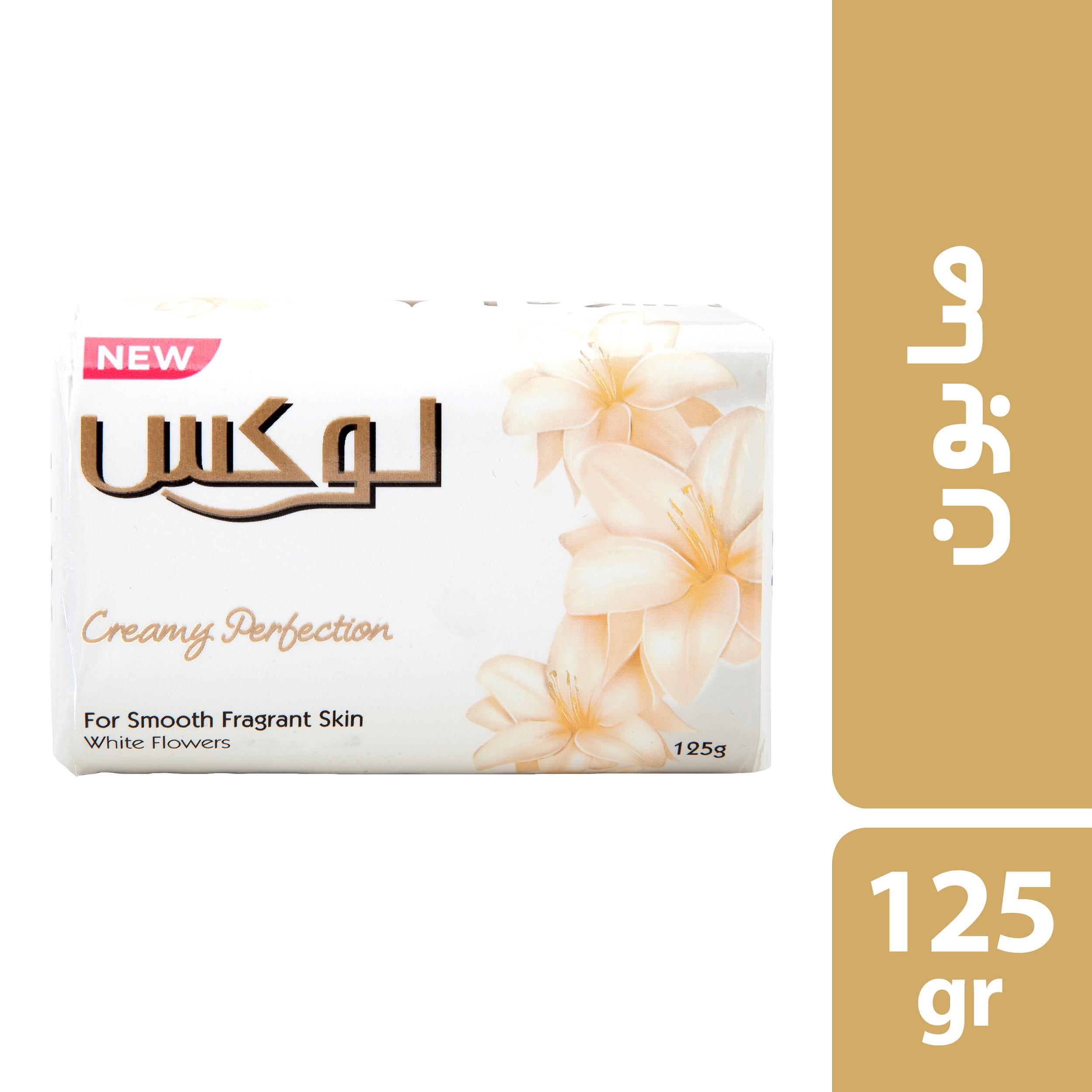صابون شستشو لوکس مدل گل های سفید وزن 125 گرم بسته 6 عددی