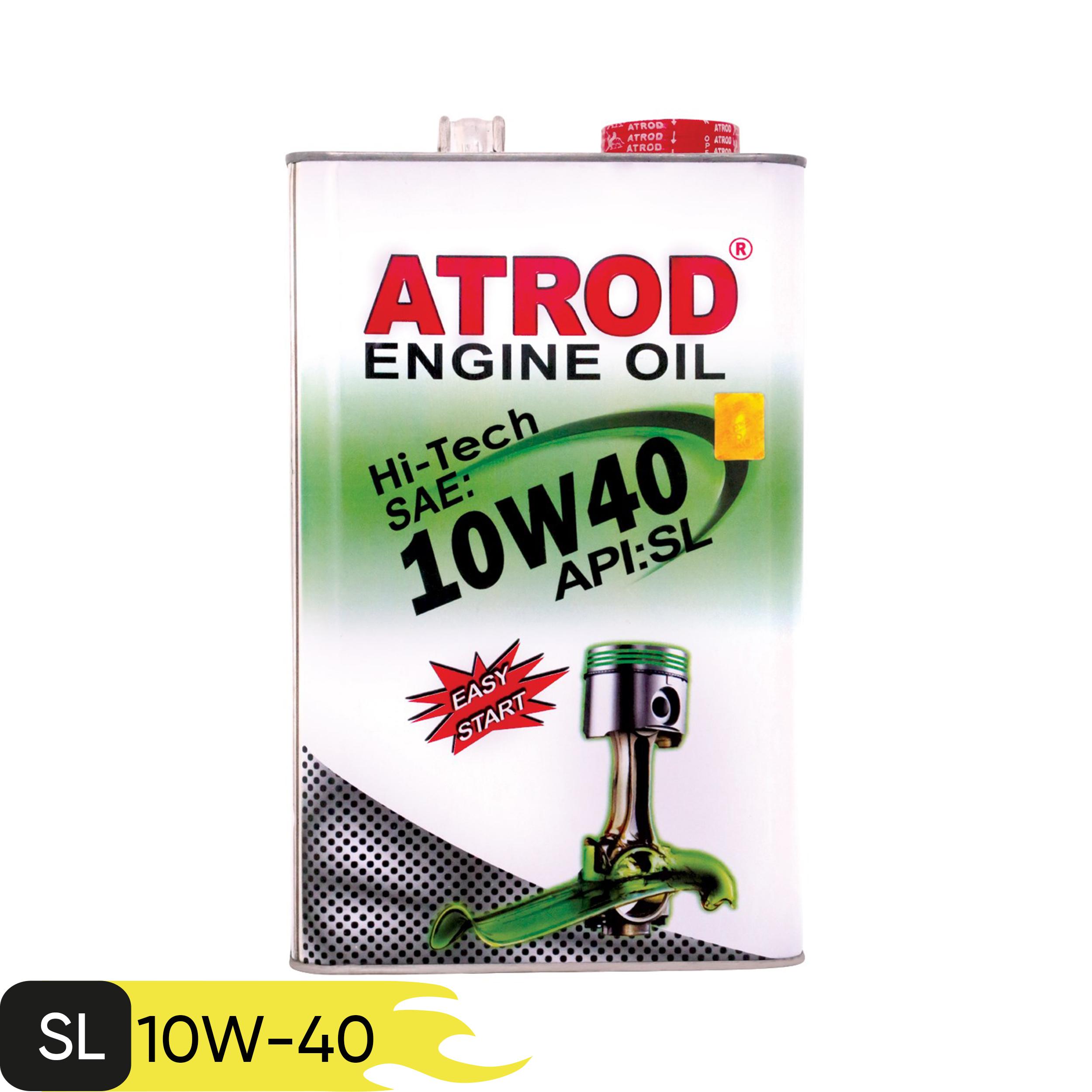 روغن موتور خودرو آترود مدل Hi-Tech 10w40 ظرفیت 4 لیتر