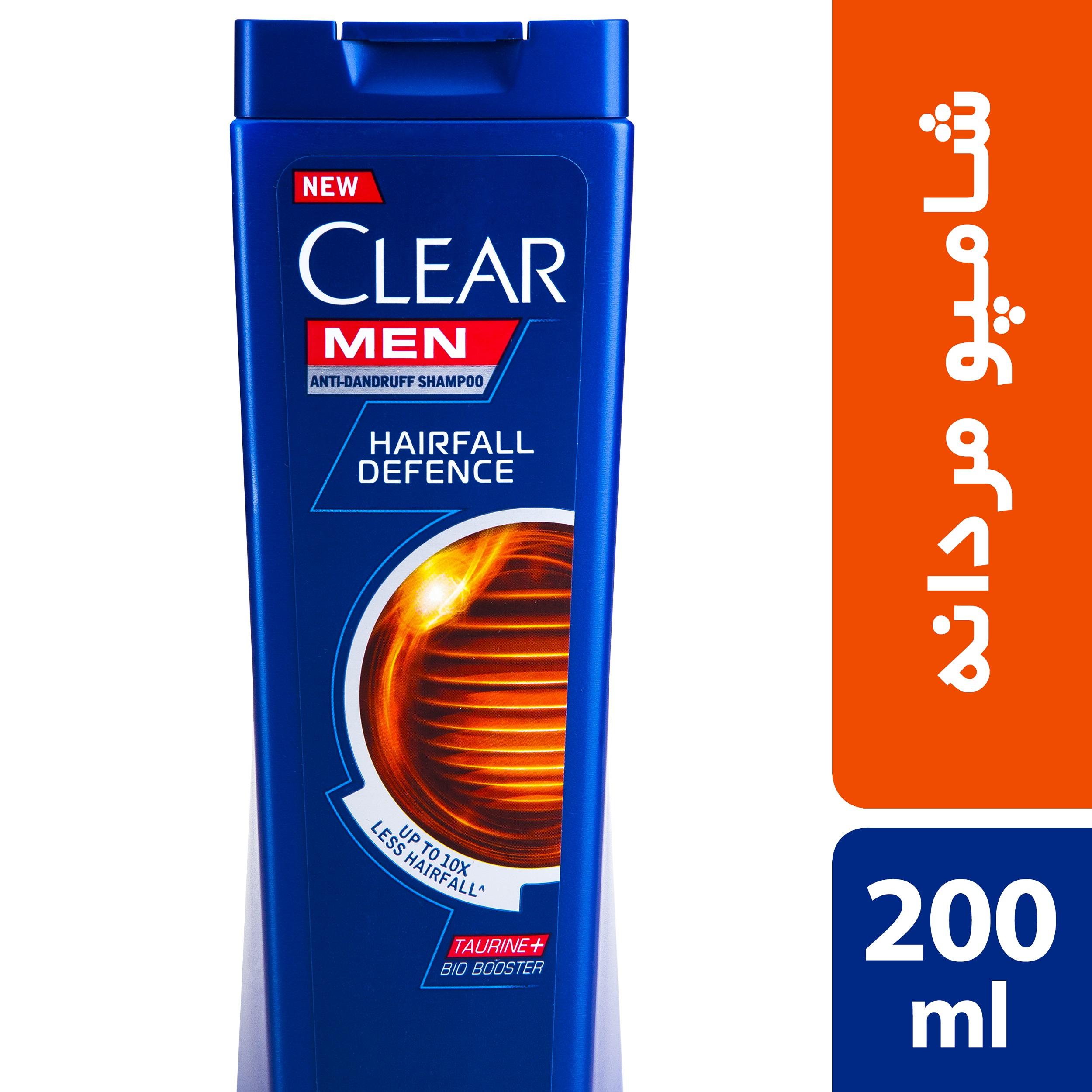 شامپو ضد شوره و ضد ریزش آقایان کلییر مدل Hairfall Defense حجم 200 میلی لیتر