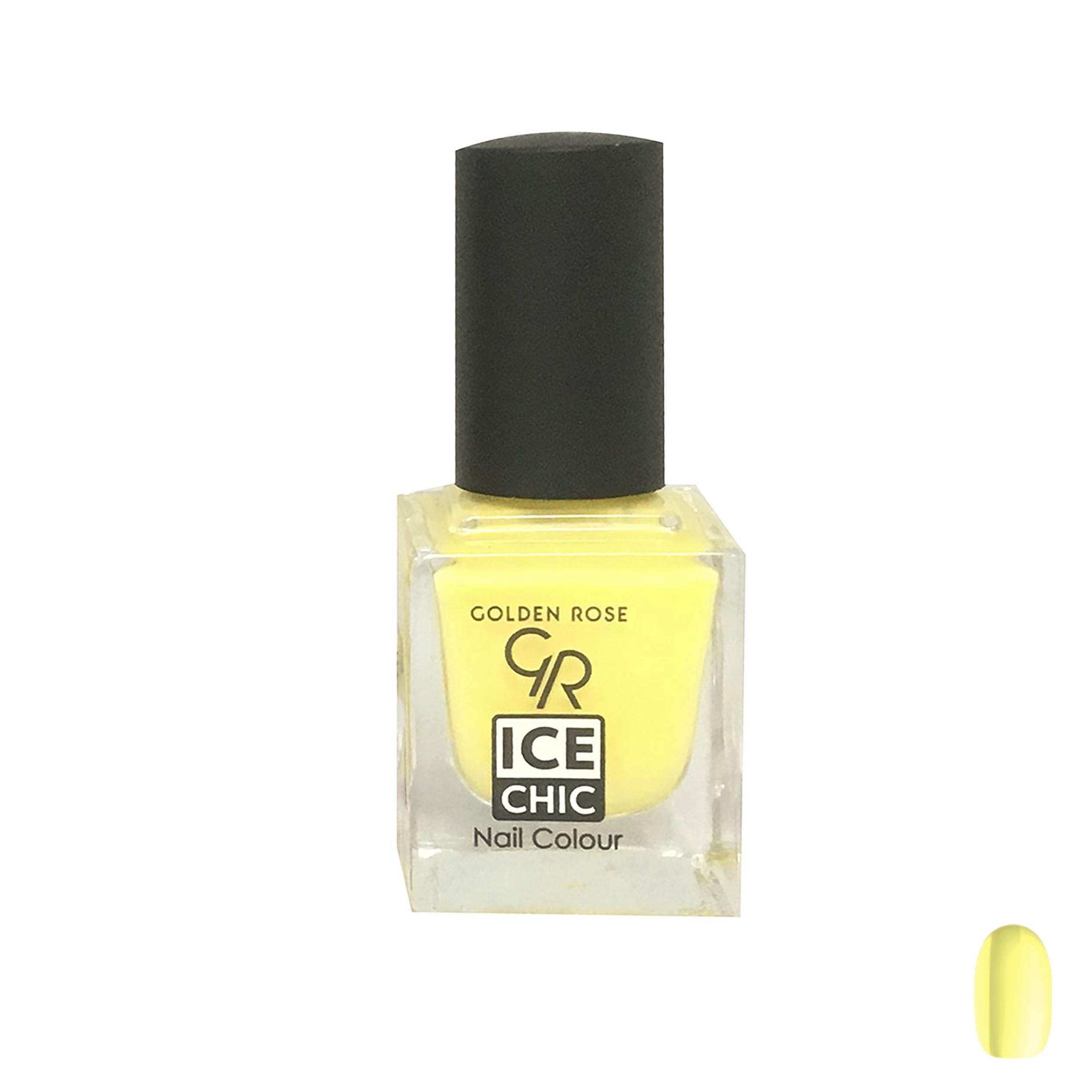لاک ناخن گلدن رز مدل Ice chic شماره 85