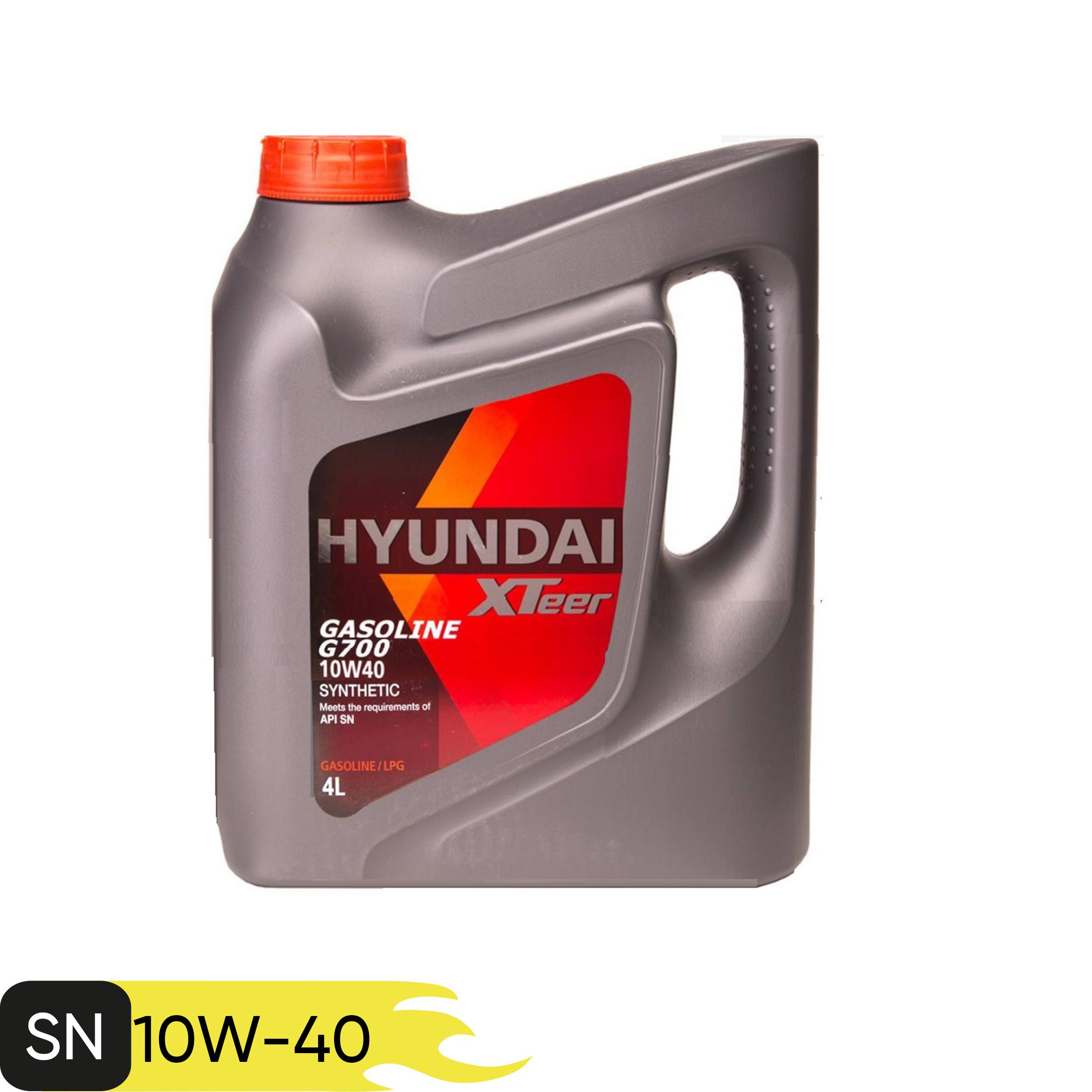 روغن موتور خودرو هیوندای اکس تیر مدل SN G700 10W-40 ظرفیت 4 لیتر